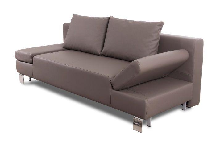 calysto banquette clic clac en simili 3 places 207x93x85 cm gris achat vente clic clac. Black Bedroom Furniture Sets. Home Design Ideas