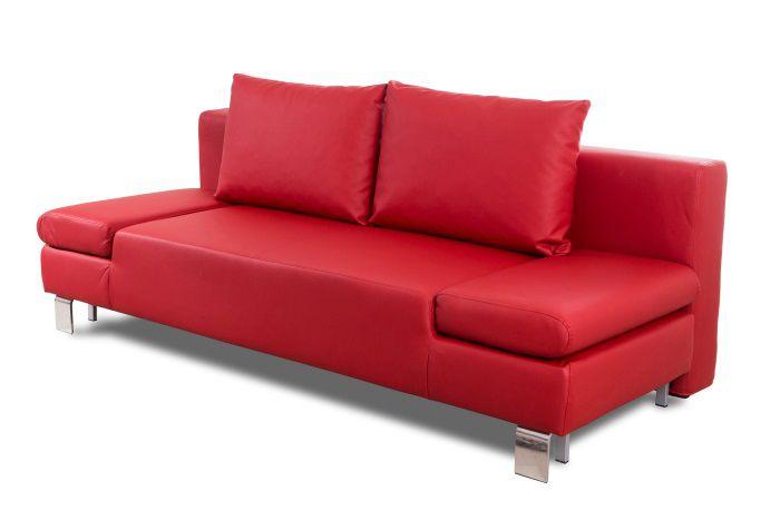 Calysto banquette clic clac en simili 3 places 207x93x85 cm rouge achat - Clic clac simili cuir ...