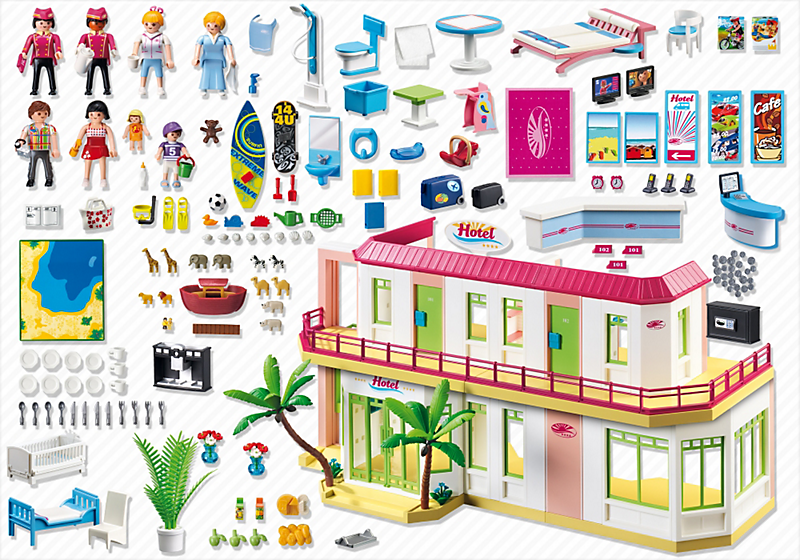 Playmobil 5265 grand h tel achat vente univers for Grand hotel pas cher