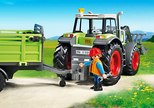 playmobil 5121 grand tracteur avec remorque achat vente univers miniature cdiscount. Black Bedroom Furniture Sets. Home Design Ideas
