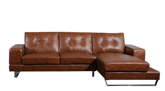 Assez SIXTY Canapé d'angle droit fixe en cuir et simili 3 places  QN36