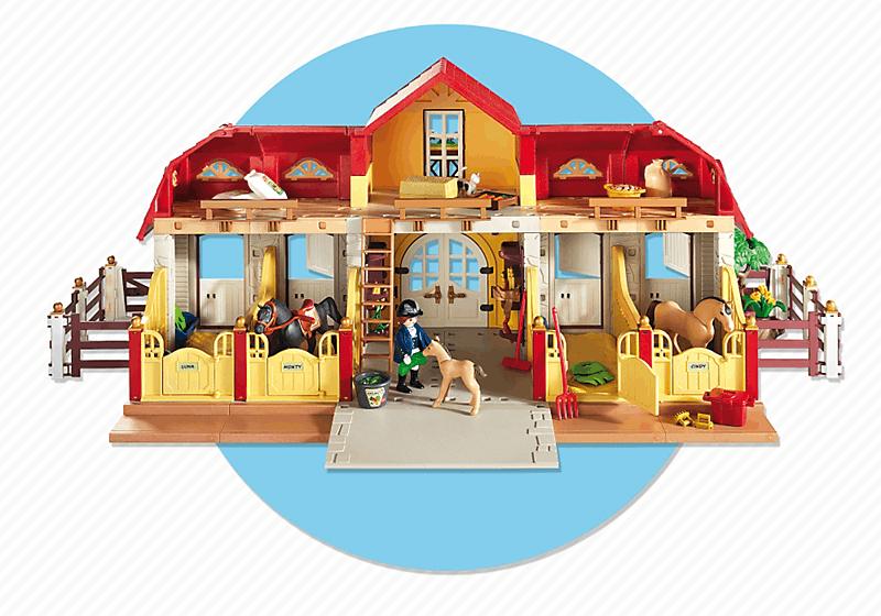 playmobil 5221 haras avec chevaux et enclos 4008789052216. Black Bedroom Furniture Sets. Home Design Ideas
