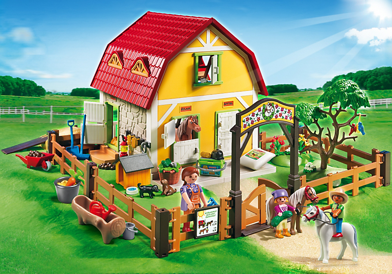 destockage playmobil 5222 ranch avec poneys univers