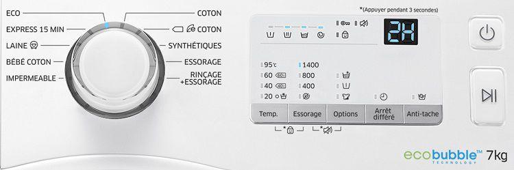 samsung ww70j3467kw1 ef lave linge achat vente lave. Black Bedroom Furniture Sets. Home Design Ideas