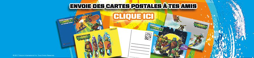 Cartes postales Tortues Ninja