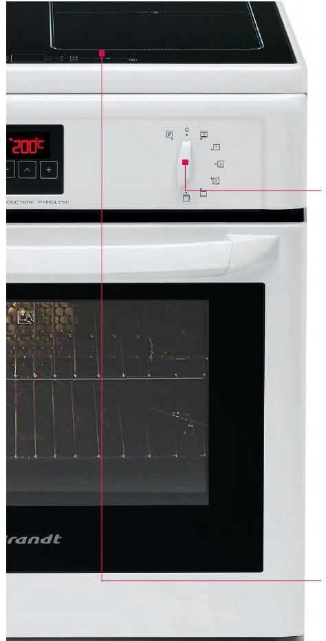 brandt ke900w cuisini re electrique 50cm blanc achat. Black Bedroom Furniture Sets. Home Design Ideas