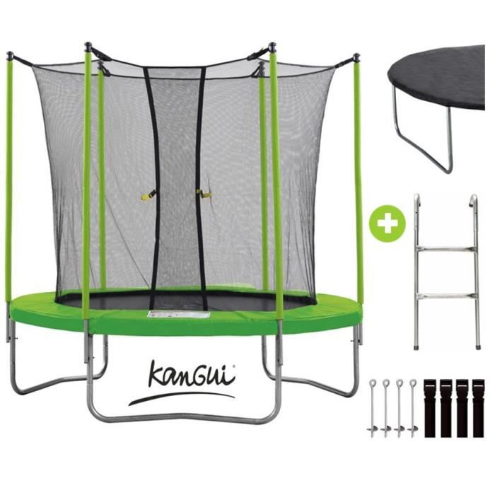 kangui pack trampoline 305cm vert avec filet chelle kit. Black Bedroom Furniture Sets. Home Design Ideas