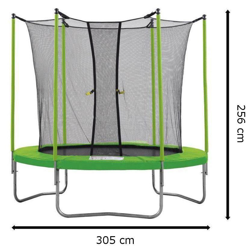 kangui pack trampoline 305cm vert avec filet chelle kit d ancrage et couverture de propret. Black Bedroom Furniture Sets. Home Design Ideas
