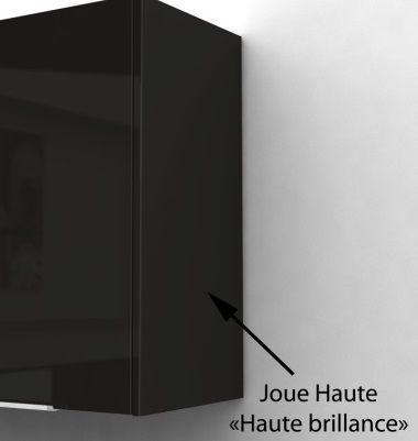 Pop meuble haut de cuisine l 80 cm noir achat vente for Porte de caisson de cuisine