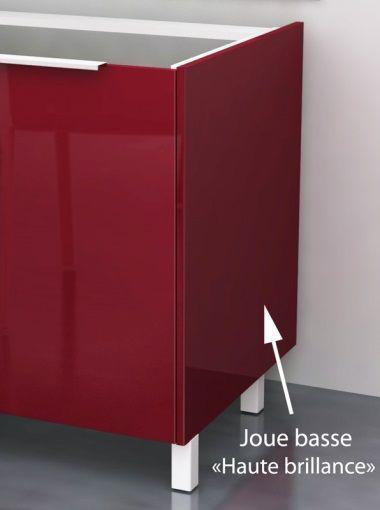 pop meuble sous vier 80 cm bordeaux haute brillance achat vente meuble sous vier caisson. Black Bedroom Furniture Sets. Home Design Ideas