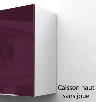 pop caisson haut de cuisine 40 cm aubergine haute brillance achat vente l ments haut. Black Bedroom Furniture Sets. Home Design Ideas