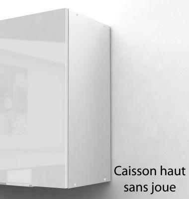 pop meuble haut de cuisine l 40 cm - blanc brillant - achat ... - Meuble Haut De Cuisine Pas Cher
