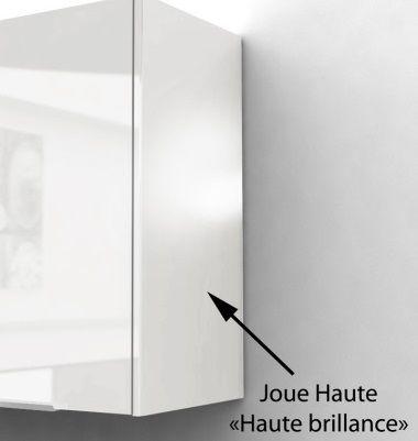 pop meuble haut de cuisine l 40 cm blanc brillant achat vente l ments haut caisson porte. Black Bedroom Furniture Sets. Home Design Ideas