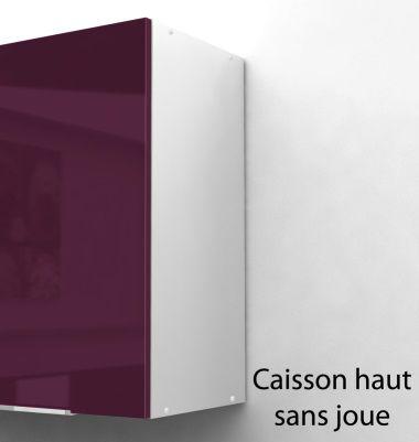 pop caisson haut de cuisine 60 cm aubergine haute brillance achat vente l ments haut. Black Bedroom Furniture Sets. Home Design Ideas