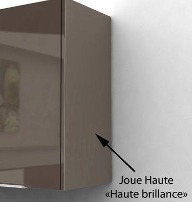 Pop meuble haut de cuisine 80 cm taupe laqu achat for Cuisine complete taupe