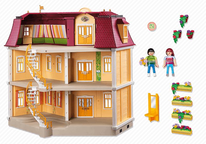 Playmobil 5302 maison de ville achat vente univers for Accessoire maison pas cher