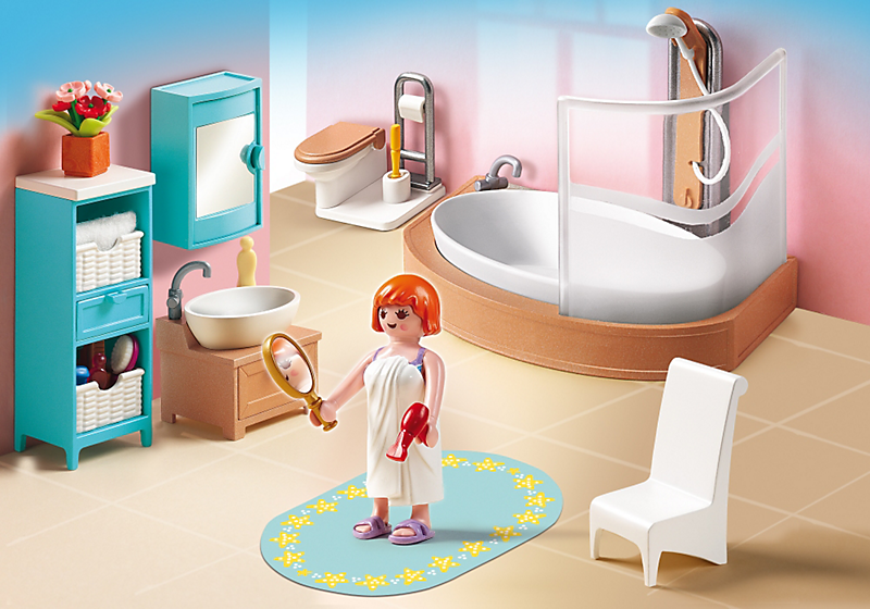 Playmobil 5330 salle de bain avec baignoire et pare douche achat vente un - C discount salle de bain ...