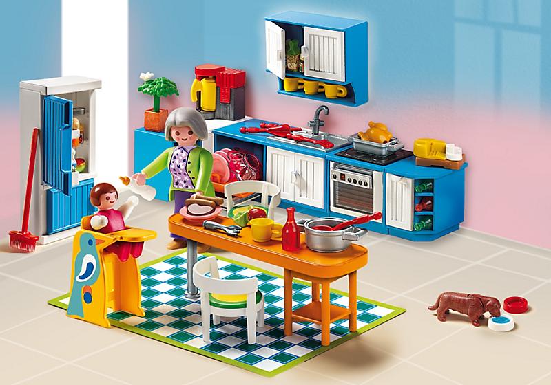 Playmobil 5329 cuisine achat vente univers miniature for Barbie chien piscine