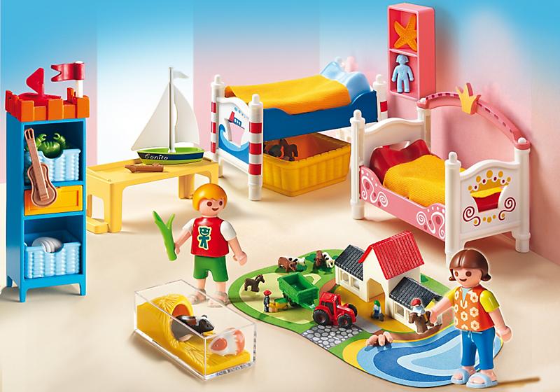 Playmobil 5333 chambre des enfants avec lits achat for Achat chambre enfant