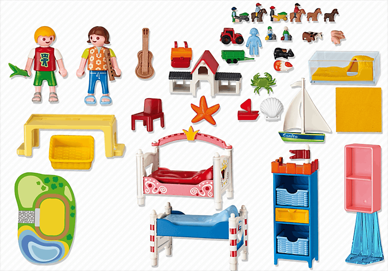 Playmobil 5333 chambre des enfants avec lits achat for Playmobil chambre enfant