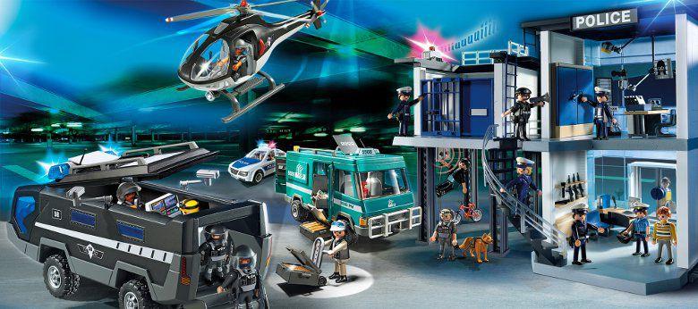 Playmobil 5563 H 233 Licopt 232 Re Avec Policier Achat Vente