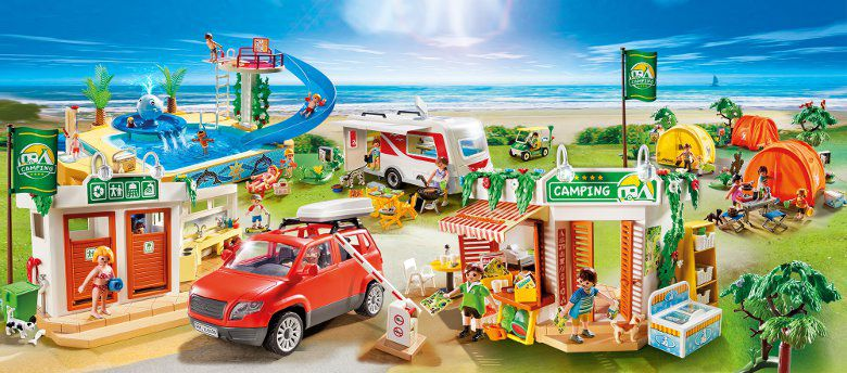 Playmobil 5432 camping achat vente univers miniature for Piscine playmobil prix