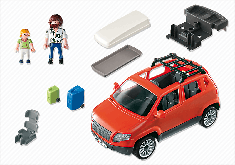playmobil 5436 voiture avec coffre de toit achat vente univers miniature cdiscount. Black Bedroom Furniture Sets. Home Design Ideas