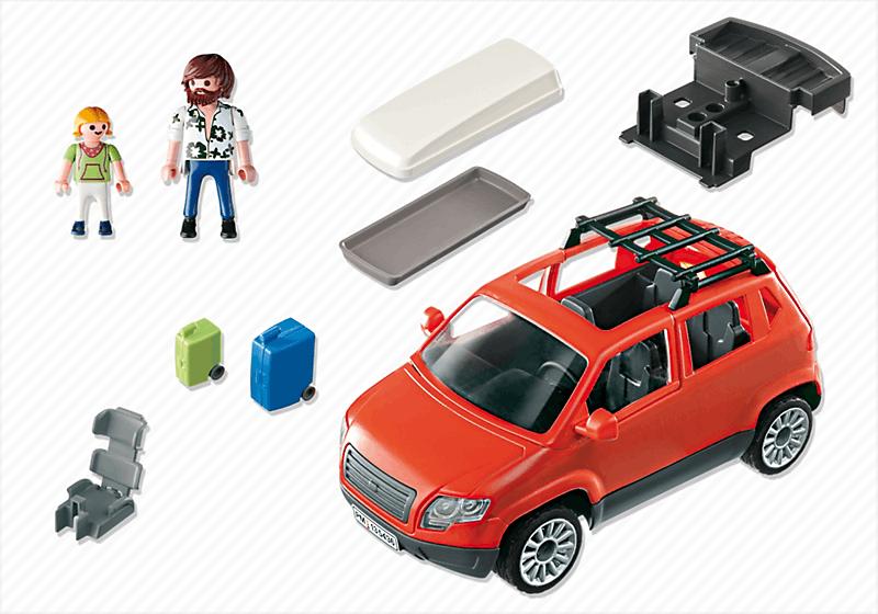 playmobil 5436 voiture avec coffre de toit achat vente. Black Bedroom Furniture Sets. Home Design Ideas