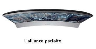 Samsung hw j6001 barre de son incurv e 6 1 120w barre de - Meuble tv samsung avec accroche barre de son ...