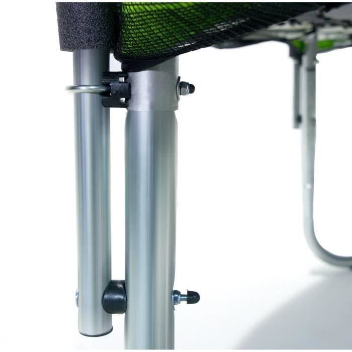kangui trampoline 250cm vert avec filet 3760165460145 achat vente trampoline cdiscount. Black Bedroom Furniture Sets. Home Design Ideas