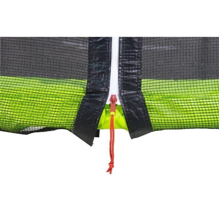 kangui trampoline twin 360cm vert avec filet achat vente trampoline soldes cdiscount. Black Bedroom Furniture Sets. Home Design Ideas