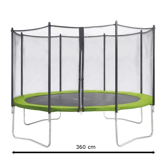 Pack Trampoline Jumpi 360 KANGUI livré avec filet de protection de 2.50m