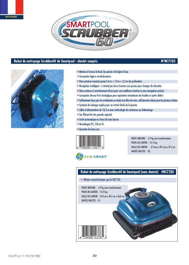 robot piscine scrubber 60