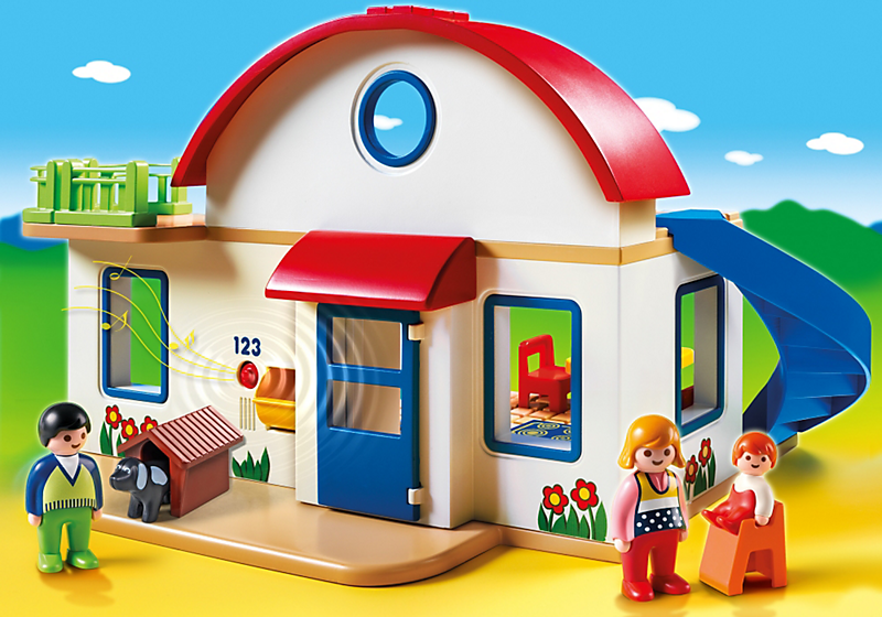 Playmobil 1 2 3 6784 maison de campagne achat vente for Photos maison playmobil