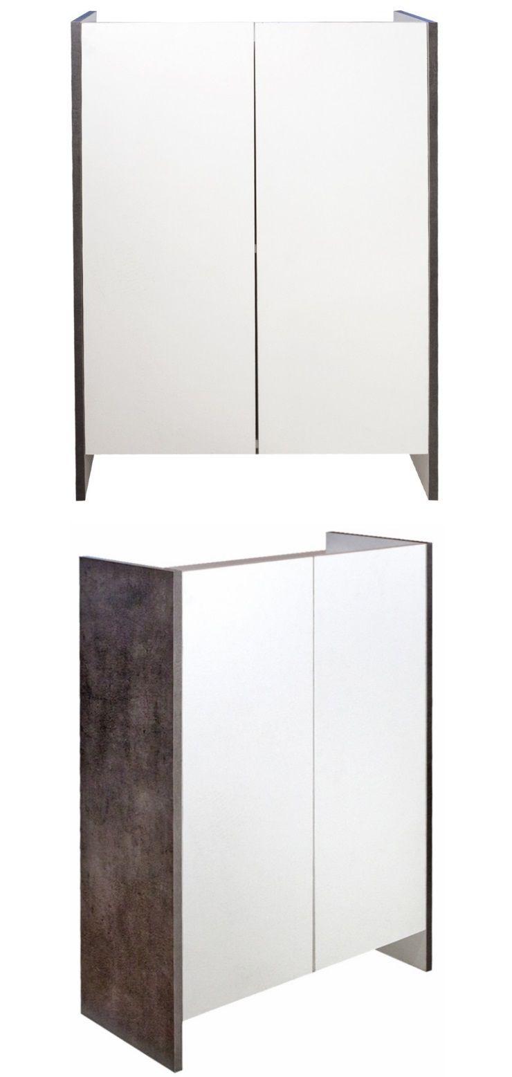 Pure meuble bas de salle de bain 60cm d cor b ton et for Meuble 05 etoiles