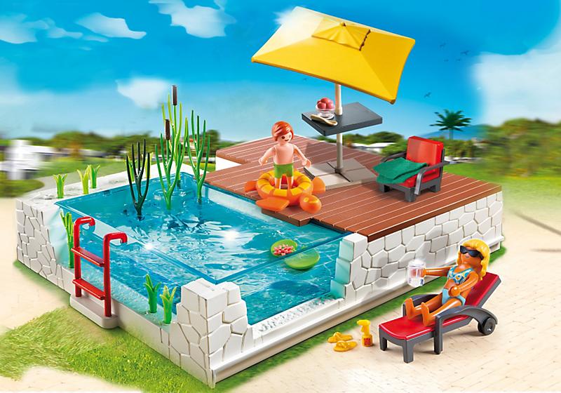 Playmobil 5575 piscine avec terrasse achat vente for Piscine playmobil