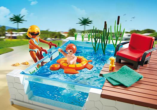 Playmobil 5575 piscine avec terrasse achat vente for Playmobil 5433 famille avec piscine et plongeoir