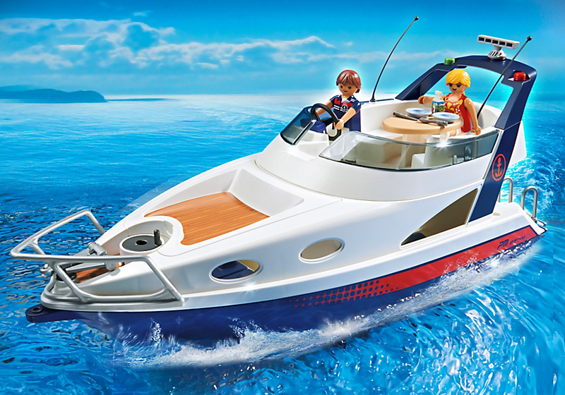 playmobil 5205 yacht de luxe avec 2 personnages achat vente univers miniature cdiscount. Black Bedroom Furniture Sets. Home Design Ideas