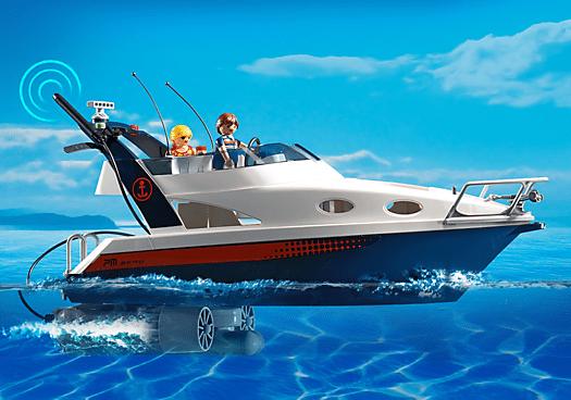 playmobil 5205 yacht de luxe avec 2 personnages achat. Black Bedroom Furniture Sets. Home Design Ideas