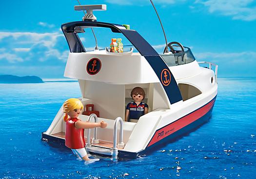 playmobil 5205 yacht de luxe avec 2 personnages achat vente univers miniature soldes d. Black Bedroom Furniture Sets. Home Design Ideas