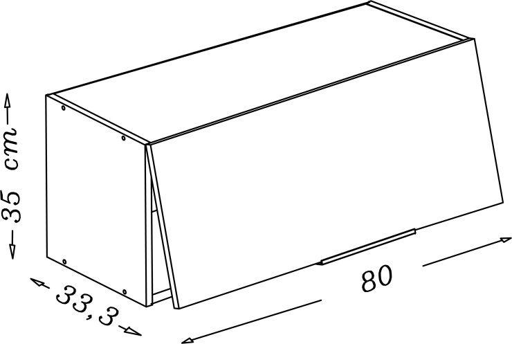 Pop meuble hotte 80 cm noir haute brillance achat - Meuble haut cuisine 80 cm ...