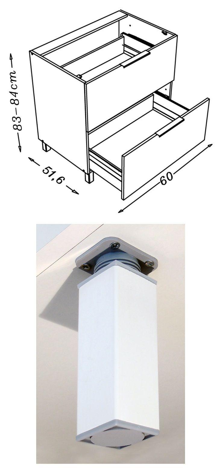 Pop caisson bas de cuisine l 60 cm gris mat achat - Caisson cuisine bas 60 cm ...