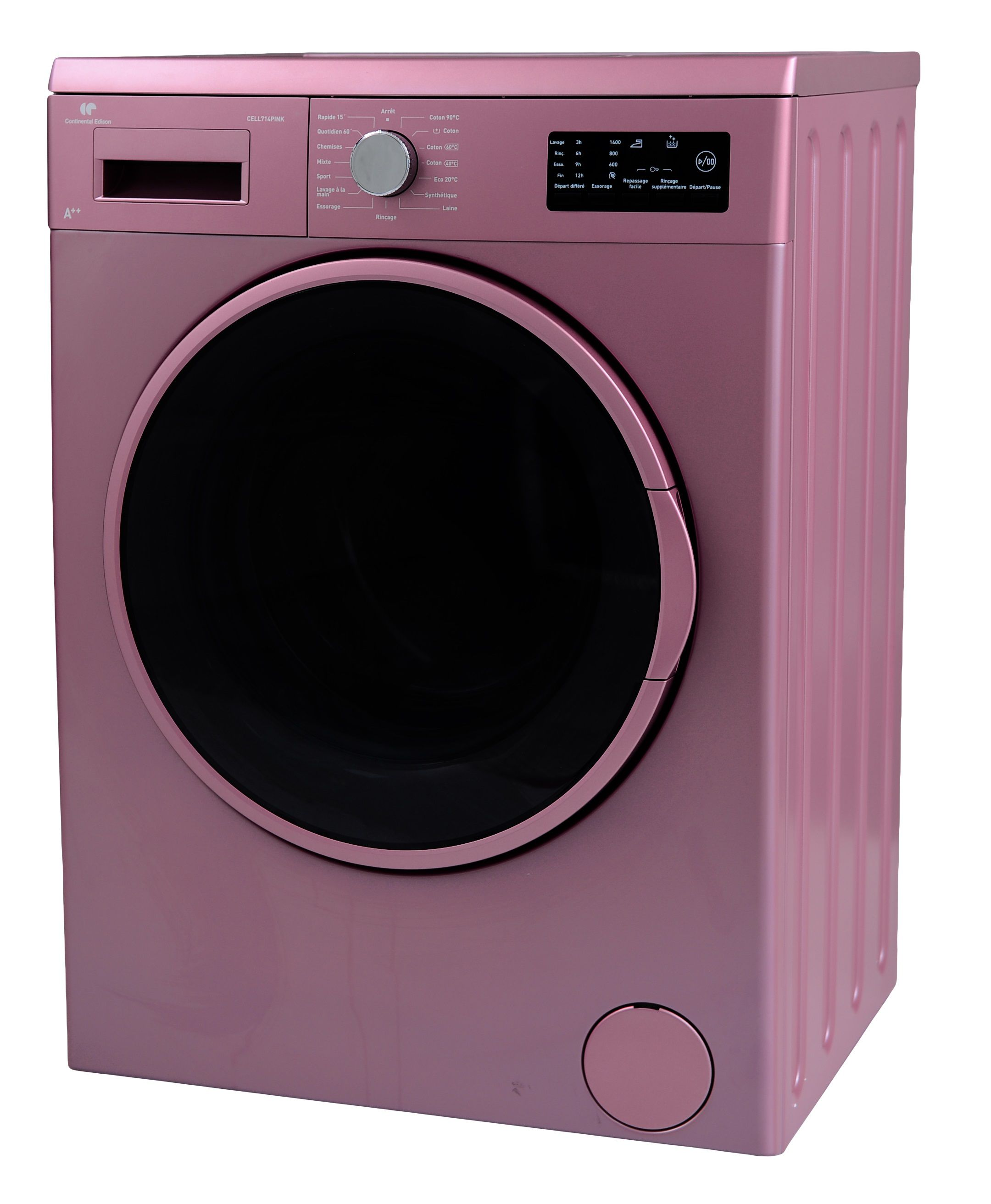continental edison cell714pink lave linge frontal 7 kg 1400 tours a achat vente. Black Bedroom Furniture Sets. Home Design Ideas