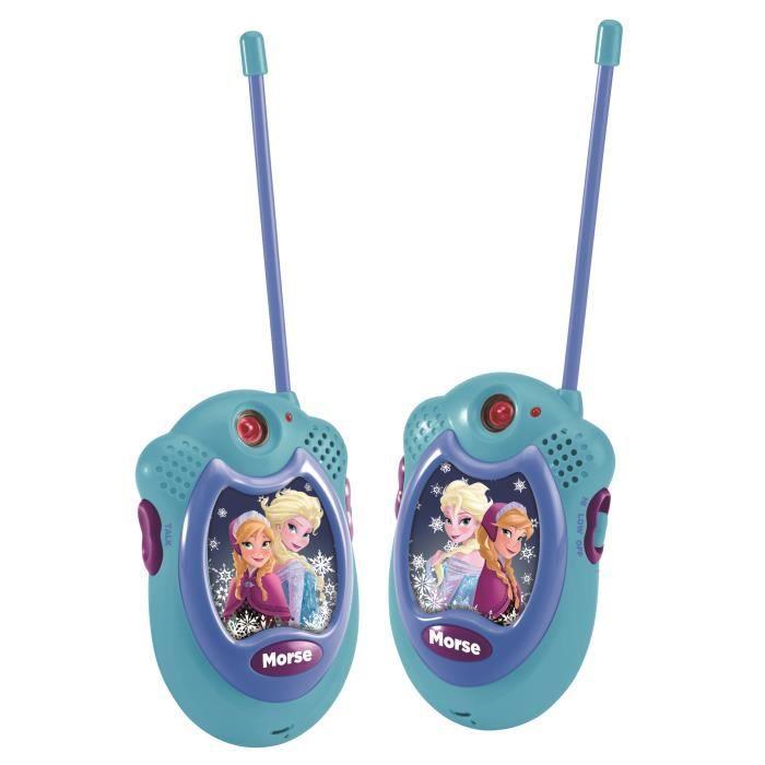 la reine des neiges paire de 2 talkies walkies port e. Black Bedroom Furniture Sets. Home Design Ideas