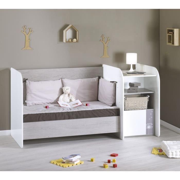 lit bb avec table langer intgre amazing baladin blanc de. Black Bedroom Furniture Sets. Home Design Ideas