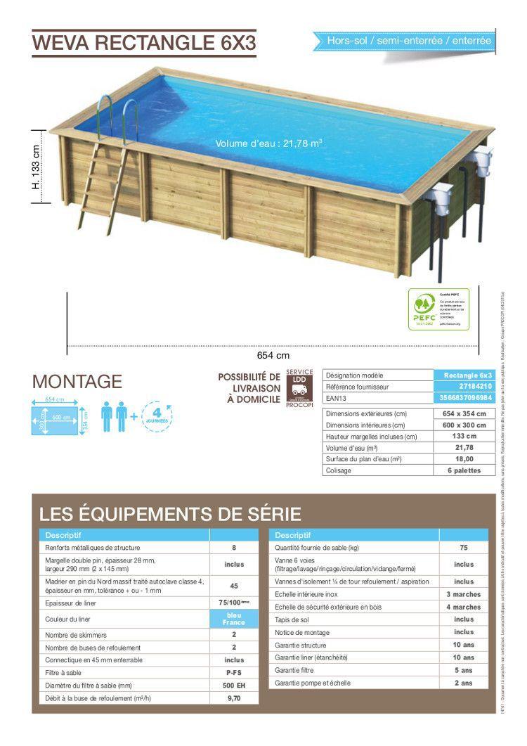 piscine bois 6x3m