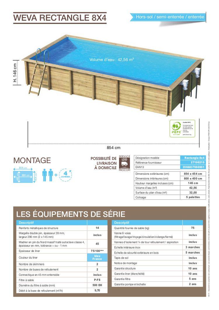 piscine bois 8×4 hors sol