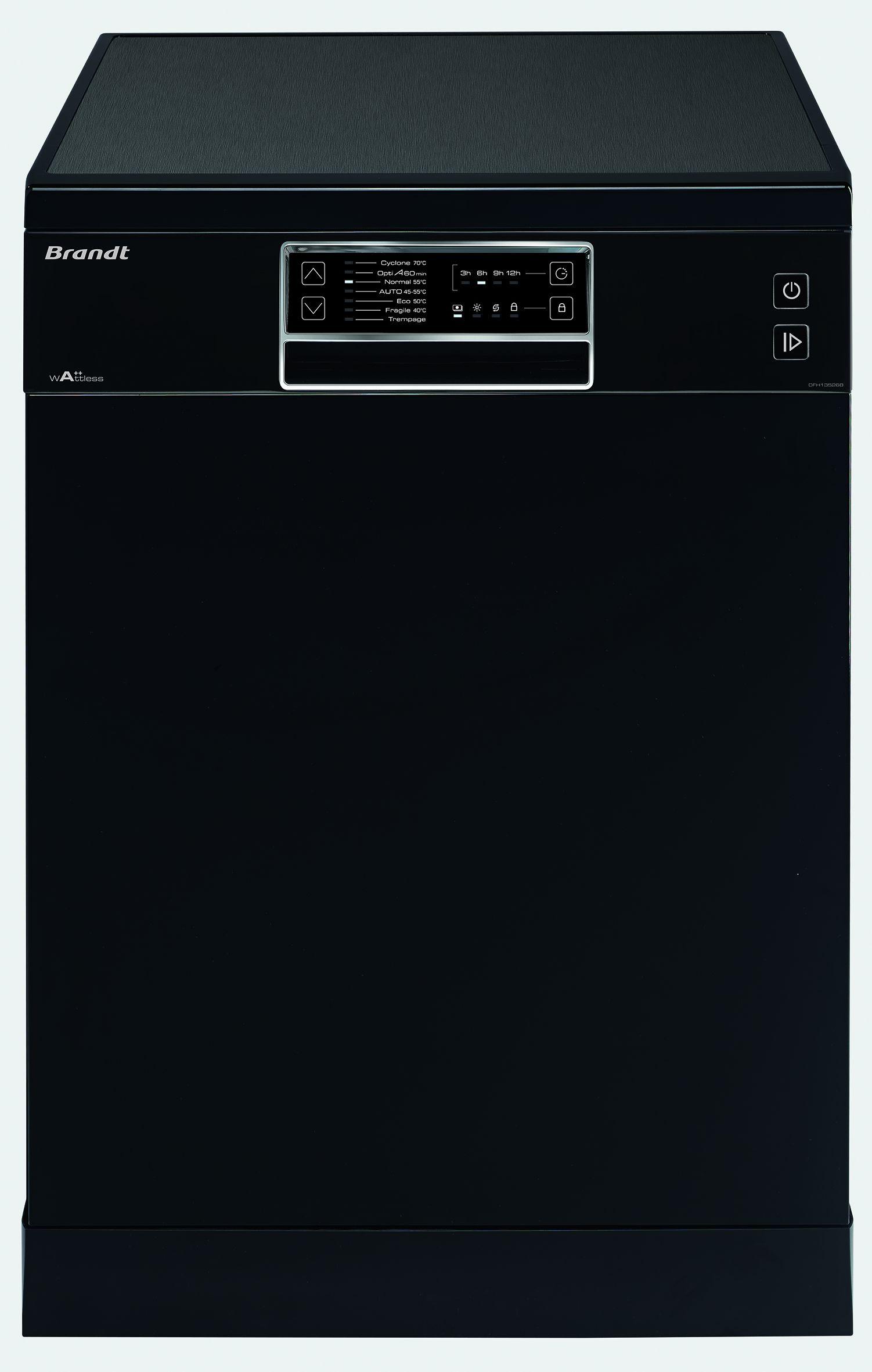 brandt dfh13526b lave vaisselle posable 13 couverts 46db a larg 60cm achat. Black Bedroom Furniture Sets. Home Design Ideas