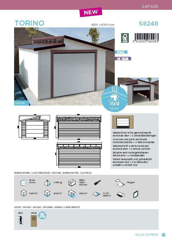 garage 399x605 6 cm 20m utiles porte sectionnelle motoris e achat vente garage garage. Black Bedroom Furniture Sets. Home Design Ideas