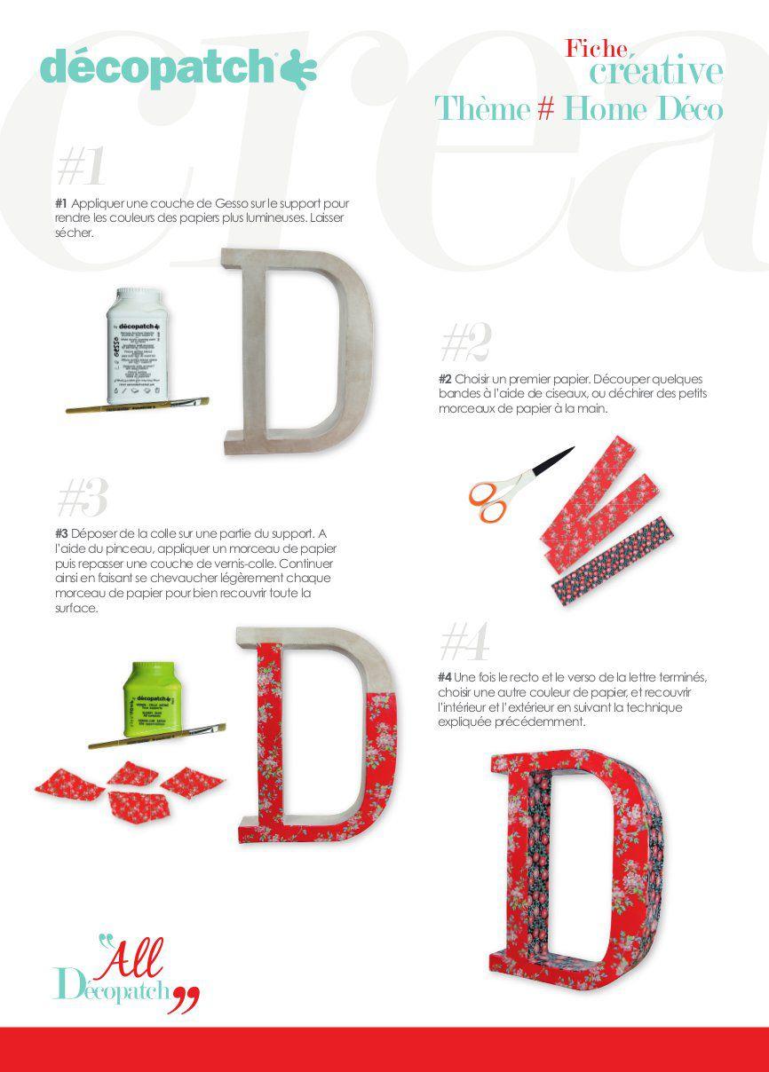 Cuisine & Maison Loisirs créatifs Decopatch Petite Lettre U en
